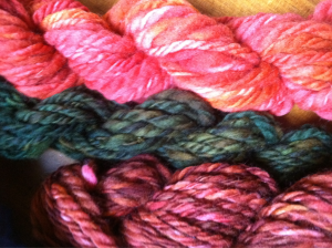 Handspun, dyed & plied! Foliage inspired for sure.