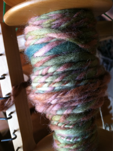 Calling this one old fashioned romance. I hand dyed & spun these two wool singles ages ago- they