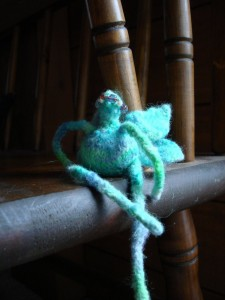 the blue fairy! knit from my own 100% wool handspun yarn…only made three of these in blue, two