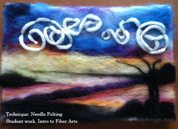 March 1 – Needle Felted Landscapes