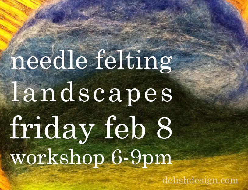Workshop: Needle felting landscapes